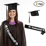 HOWAF Sombrero de graduación 2020, Birrete graduacion Adulto y Banda Graduación, Celebrar el Fin de Estudios en Universitario