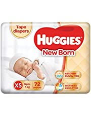 Huggies Ultra Soft New Born Diapers (72 Counts)