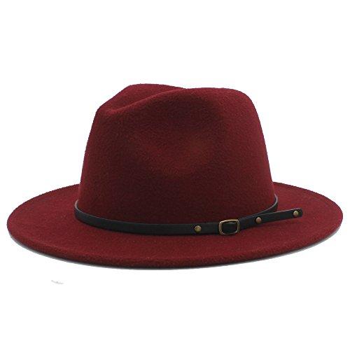 Sunny Baby Sombreros de ala Ancha Fedora de Lana para Mujer Sombreros de  sombrerera de Jazz para 61cd7361a40