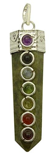 Harmonize Lápiz Varita Colgante De 7 Chakras Piedra De Jade Verde Equilibrio Espiritual Reiki Cura De Cristal De Regalo