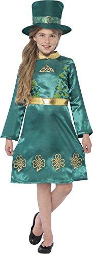 Smiffys 44403L - Kinder Mädchen Kobold Kostüm, Alter: 10-12 Jahre, grün (Das Kobold Kostüm Tragen)