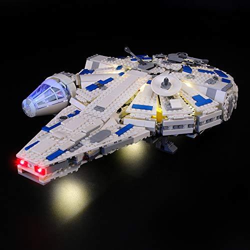 LIGHTAILING Conjunto de Luces (Star Wars Halcón Milenario del Corredor De Kessel) Modelo de Construcción de Bloques - Kit de luz LED Compatible con Lego 75212 (NO Incluido en el Modelo)