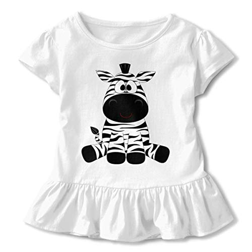 kfghtr Funny Zebra Ruffled T-Shirt Short Sleeve Kids Birthday Gift 2-6T -