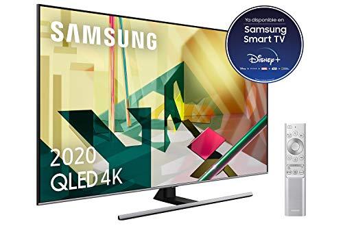 Oferta de Samsung QLED 4K 2020 75Q75T - Smart TV de 75 con Resolución 4K UHD, Inteligencia Artificial 4K, HDR 10+, Multi View, Ambient Mode+, Premium One Remote y Asistentes de Voz integrados (Alexa)