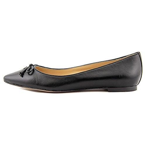 Coach Radient Femmes Cuir Chaussure Plate Black-Black