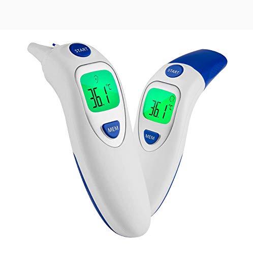 Baby Fieberthermometer Infrarot Ohrthermometer,Multifunktion Digitaler Stirnthermometer Medizinischer Thermometer, hohe Genauigkeit, Echtzeit-Anzeige, geeignet für Babys, Kinder und Erwachsener