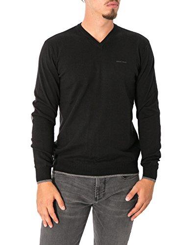 ARMANI JEANS - Pullover uomo collo a v 8n6m96 6m13z xl nero