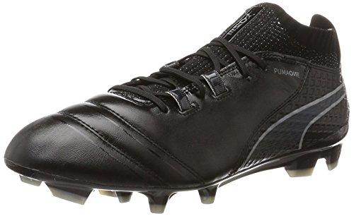Puma Herren ONE 17.1 FG Fußballschuhe, Schwarz Black-Silver, 44 EU