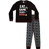 Boys Eat Game Sleep Controller Long Pyjamas 8 to 15 Years AOP