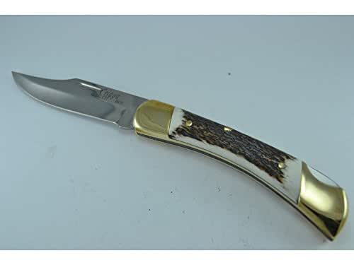 Couteau Celaya chasse Puma Laiton Corne Cerf n 1