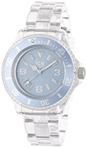 ICE-Watch - Montre Mixte - Quartz Analogique - Ice-Pure - Blue - Small - Cadran Bleu - Bracelet Plastique Transparent - PU.BE.S.P.12