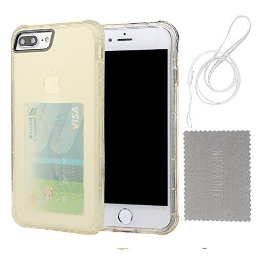 """xhorizon [Ultra Hybrid] [Air Cushion] Shock-Absorption Stoßfänger und Anti-Scratch Clear Zurück Ultra-schlanke Schutz-Clear Cover mit versteckten Card Slot für iPhone 7 Plus/ iPhone 8 Plus [5.5""""] #3"""
