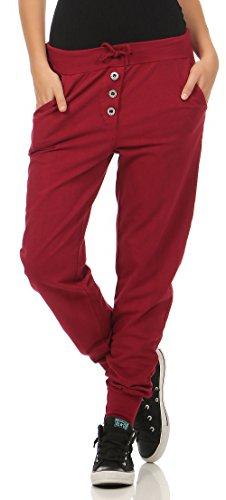 Rote Damen Jogginghose mit elastischen Bund