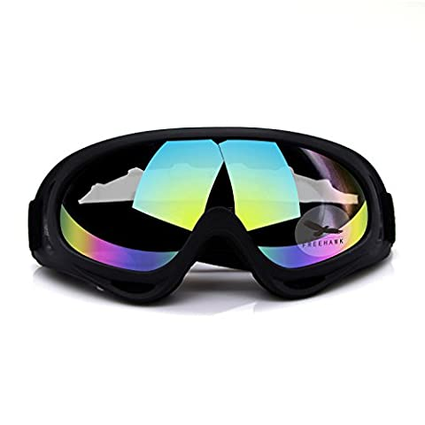 Freehawk Goggles Rubbery Adjustable UV Outdoor Protective Glasses Anti Fog Smoke Particulates Prevent Dust-proof Highlander Safety Shield Combat Tactical Protective Eyewear Sunglasses in Colorful