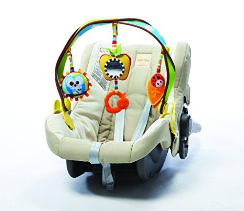 Tiny Love Arche d'activités de voyage pour bébé Woodland, arche pour poussette, clips de fixation universels compatibles avec poussettes, nacelles et cosi, Dès la naissance