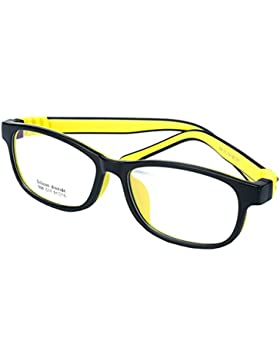 Gafas para niños - Silicona - Gafas de lentes transparentes marco Geek / Nerd gafas con forma de coche gafas caso...