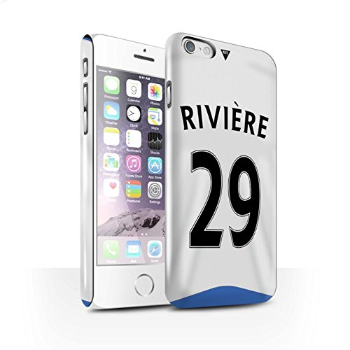 Offiziell Newcastle United FC Hülle / Glanz Snap-On Case für Apple iPhone 6S / Pack 29pcs Muster / NUFC Trikot Home 15/16 Kollektion Rivière