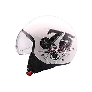 AL Helmets DEMI-JET HELM MODELL 101 RIDE 75 WEISS GRÖßE XL