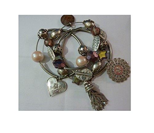 bracelets-x-4-marque-gas-bijoux-femme-bon-etat-doccasion-elastique