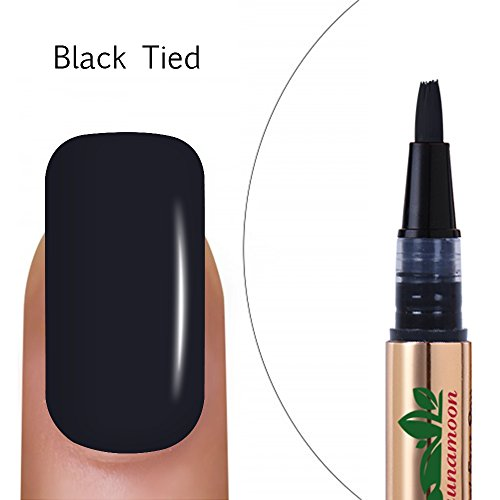 Smalti per unghie in gel penna smalto gel color UV LED Soak Off Gel,Black Tied,Lagunamoon TO-GO gel polish