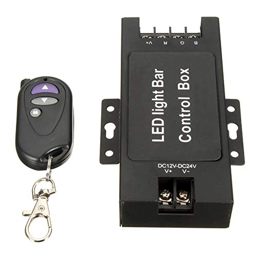 12-24V LED-Lichtleiste Batteriesteuergerät mit drahtloser Fernbedienung Blitzsteuerung für Arbeitslampe 7 Blinkmodi (Strobe Led Lichtleiste Road Off)