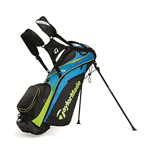 TaylorMade TourLite Sac de golf avec support en bleu fluo &...