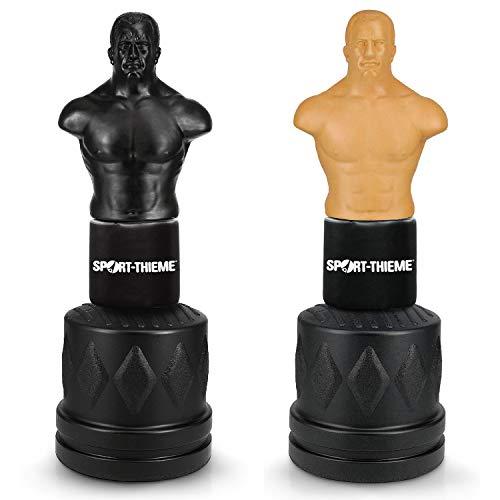 Sport-Thieme Boxdummy Boxing Man | Höhenverstellbarer Kampfsport Trainingsdummy + Standfuß in Zwei Farben | Realistisch, Standsicher, große Trefferflächen | 175x56x56 cm | Gefüllt: ca. 126 kg