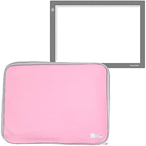 DURAGADGET Funda De Neopreno Rosa Para Tableta Gráfica / Caja de luz Huion L4S | LB4 | A4 - Resistente Al