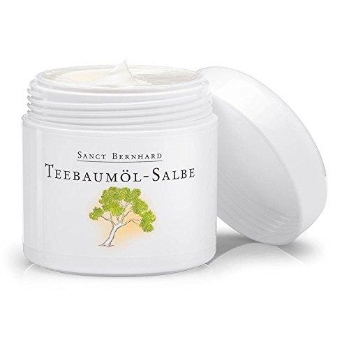 Teebaumöl-salbe (Sanct Bernhard Teebaumöl-Salbe mit Jojobaöl, Avocadoöl, Ringelblumenöl, Getreidekeimöl 100 ml)