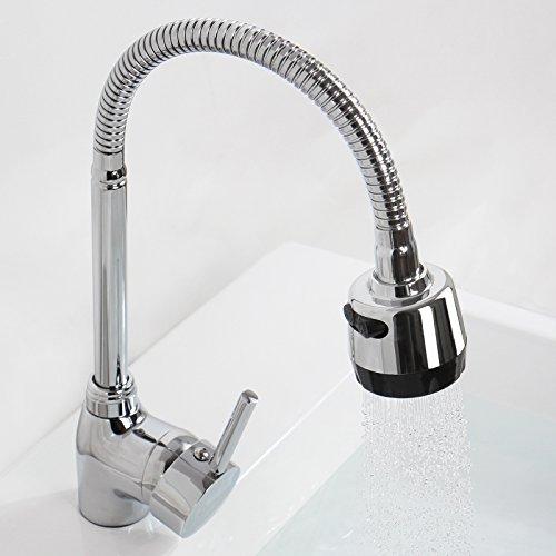 Aquamarin Küchenarmatur, verchromt, Modell wählbar Modèle 7 - Aquamarin Seife