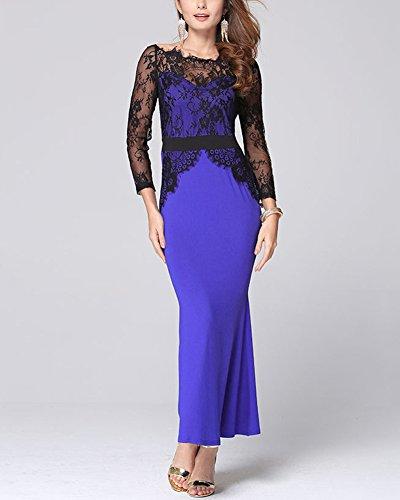 Dame Langes Kleid Reizvolles Spitze Abend Kleid für Partei Ball ...
