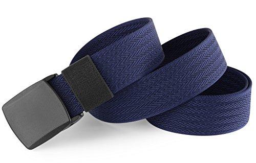 VEASTI Nylon Herren Gürtel Verstellbarer Gurt Schnalle 130cm Schnalle Enthalten mit YKK Schnalle (Blau)