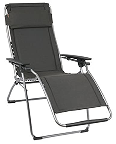 Lafuma Relax-Liegestuhl, klappbar und verstellbar, Futura Polycoton, Ardoise (Grau), LFM3061-4258