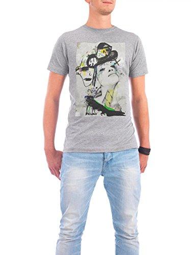 """Design T-Shirt Männer Continental Cotton """"distantfingers"""" - stylisches Shirt Abstrakt von Sandrine Pagnoux Grau"""