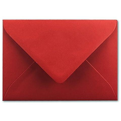 Briefumschläge in Rosenrot   150 Stück   80 g/m²   gefärbte Kuverts in DIN B6 Format 125 x 175 mm   Nassklebung   komplett durchgefärbtes Papier   Post-Umschläge ohne Fenster   ideal für Weihnachten, Grußkarten und Einladungen   Serie FarbenFroh