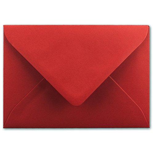 in Rosen-Rot - 80 g/m² - Kuverts in DIN B6 Format 12,5 x 17,5 cm - Nassklebung ohne Fenster - Qualitätsmarke FarbenFroh® ()