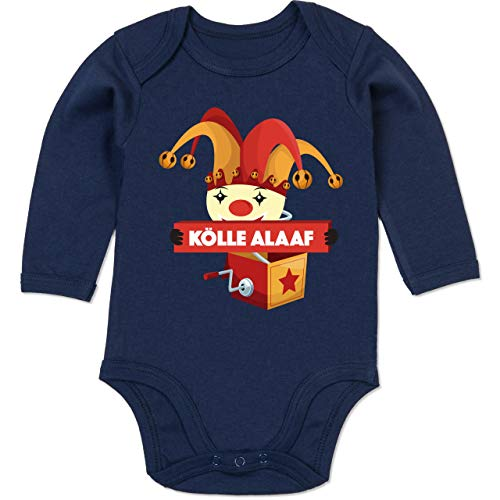 Shirtracer Karneval und Fasching Baby - Kölle Alaaf Jack in The Box - 12-18 Monate - Navy Blau - BZ30 - Baby Body ()
