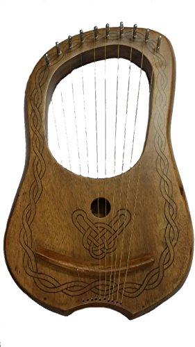 Lyre-Harpe-10-cordes-en-mtal-en-palissandre-passepoil-noir-designLyra-Jante-PRH-Shesham-bois