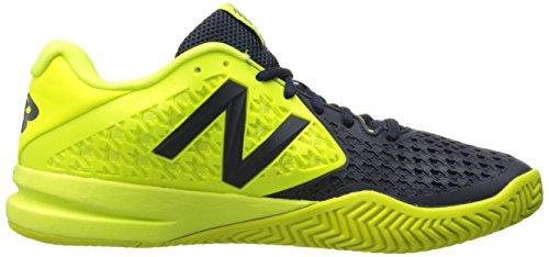 New Balance Men's 996v2 Tennis Shoe Blue/Yellow
