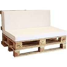 asiento de espuma enfundado en blanco para sof palet