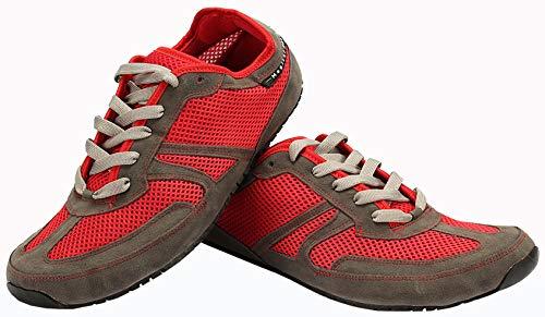 Magical Shoes Explorer Vegan Barfußschuhe | Kinder | Laufschuhe | Zero Drop | Flexibel | Rutschfest, Größen:35/225mm, Farbe:MS Explorer Vegan - Grau/Rot