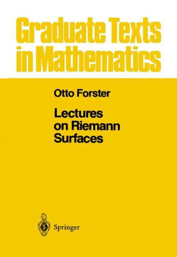 Lectures on Reimann Surfaces (Graduate Texts in Mathematics) por Otto Forster