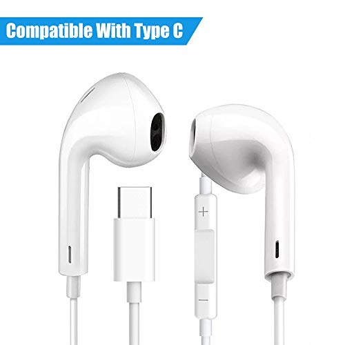 IULONEE Typ C Kopfhörer, geräuschisolierend, In-Ear-Stereo-Bass-Kopfhörer, USB C, Sport, verkabelt, HiFi, Reiner Klang, leistungsstarke Ohrhörer, kompatibel mit Huawei Razer Google MacBook etc. (Für Pro Headset Macbook Bluetooth)