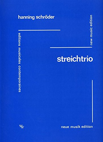 STREICHTRIO - arrangiert für Violine - Viola - Violoncello [Noten / Sheetmusic] Komponist: SCHROEDER HANNING