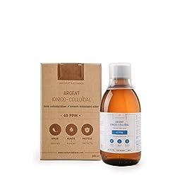 Argento Colloidale Premium 40 PPM 300 ml ● Formula a concentrazione ottimale, particelle più piccole, risultati migliori…