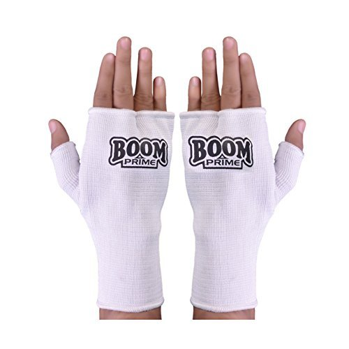BOOM Prime Boxen Innen Handschuhe Fist Hand Unterstützung Kick Boxing Martial Arts Muay Thai Training (Kostenloser UK Versand), weiß
