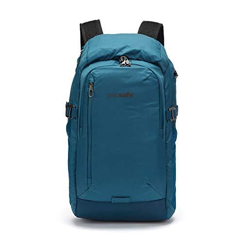 Pacsafe Venturesafe X30 GII sac à dos anti-vol, 210D Nylon Diamond Ripstop, sac à dos de voyage, bagages de voyage avec technologie de sécurité, 30 litres, bleu