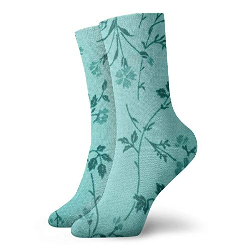 Nifdhkw Green Leave Casual Crew Socks,Thin Socks Short Ankle for Outdoor,Running,Athletic,Travel