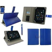 Emartbuy® Azul Lápiz Óptico + Universal Serie Azul Ángulo Múltiples Executive Folio Funda Carcasa Wallet Case Cover apto para UNUSUAL 7X & 7X+ 7 Inch Tablet
