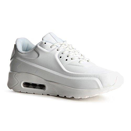 topschuhe24 785 Damen Sneaker Turnschuhe Weiß